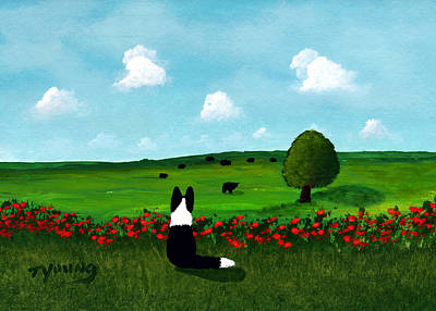 Grazing Cows Poster by Todd Young