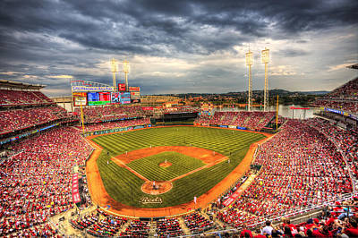 Great American Ballpark Poster by Shawn Everhart