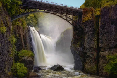 Great Falls Mist Poster by Susan Candelario