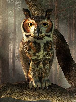 Great Horned Owl Poster by Daniel Eskridge