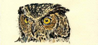 Great Horned Owl Poster by Juan  Bosco