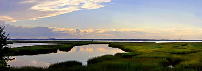 Great Salt Marsh - Plum Island Poster by John Brown