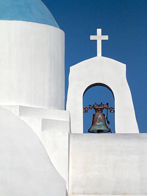 Greek Island Church Poster by Stelios Kleanthous