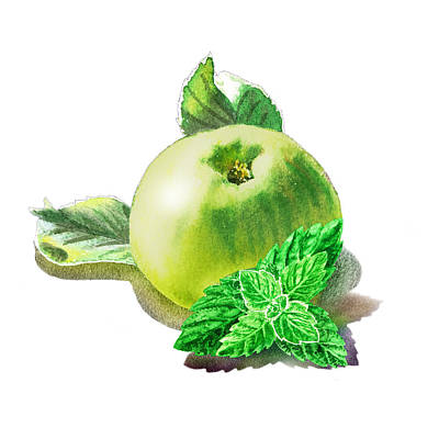 Green Apple And Mint Happy Union Poster by Irina Sztukowski