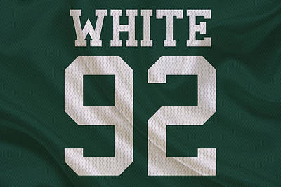 Green Bay Packers Reggie White Poster by Joe Hamilton