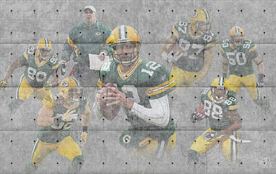 Green Bay Packers Team Poster by Joe Hamilton