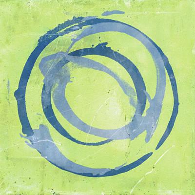 Green Blue Poster by Julie Niemela