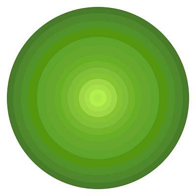 Green Circles Poster by Frank Tschakert