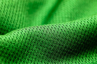 Green Fabric Poster by Tom Gowanlock