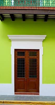 Green Facade Poster by Ricardo J Ruiz de Porras