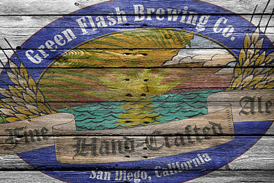 Green Flash Brewing Poster by Joe Hamilton