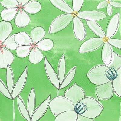 Green Garden Poster by Linda Woods