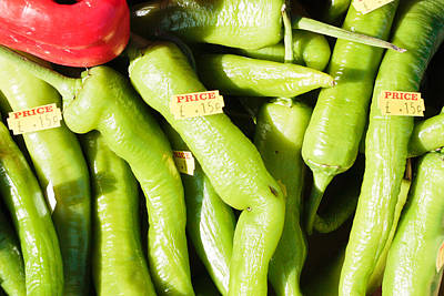Green Jalpeno Peppers Poster by Tom Gowanlock