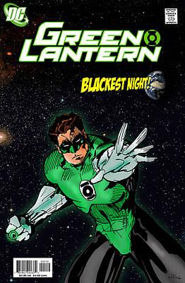 Green Lantern Poster by Mark Rogan