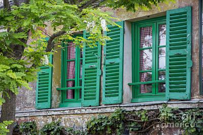 Green Shutters - Paris Poster by Brian Jannsen