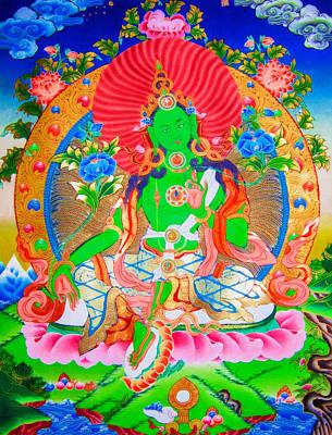 Green Tara 11 Poster by Lanjee Chee