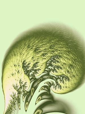 Green Wave Poster by Anastasiya Malakhova