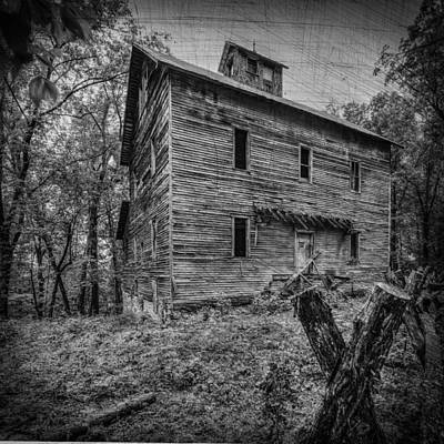 Greer Mill Black And White Poster by Paul Freidlund