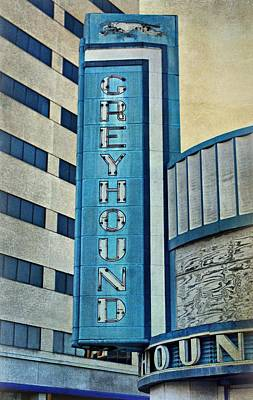 Greyhound Sign Poster by Sandy Keeton