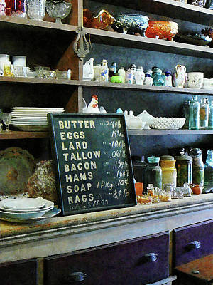 Groceries In General Store Poster by Susan Savad