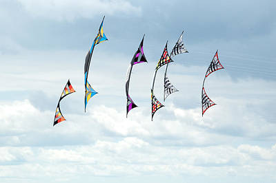 Group Of Revolution Kites At The Windscape Kite Fest Poster by Rob Huntley