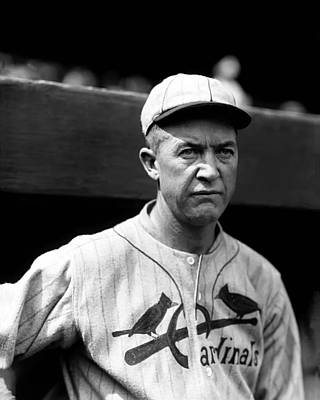 Grover Cleveland Alexander Outside Dugout Poster by Retro Images Archive