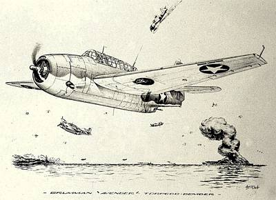 Grumman Tbf-1 Avenger Poster by Hank Clark