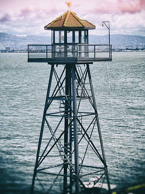 Guard Tower Alcatraz Poster by Daniel Hagerman