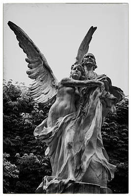 Guardian Angel In Paris Poster by Georgia Fowler