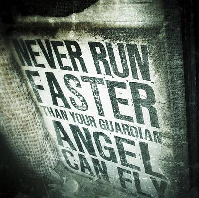 Guardian Angel - Quotation Text Photography Poster by Marianna Mills