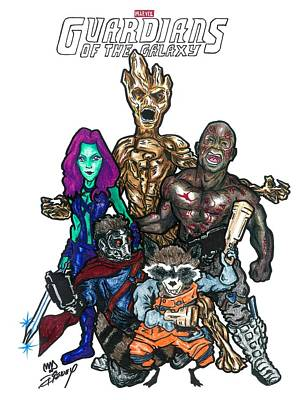 Guardians Of The Galaxy Poster by Michael Dijamco
