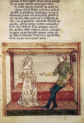 Guinevere And Galaad. Fol. 6 Poster by Everett