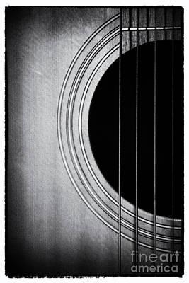 Guitar Film Noir Poster by Natalie Kinnear