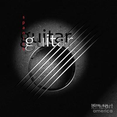 Guitar Poster by Franziskus Pfleghart