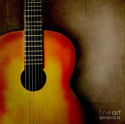 Guitar Poster by Jelena Jovanovic