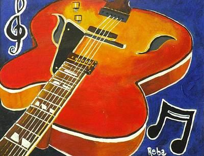 Guitar Medley Poster by Reba Baptist