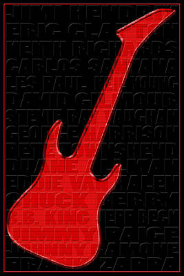 Guitar Players 1 Poster by Andrew Fare