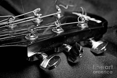 Guitar Tuning Keys Poster by Paul Ward