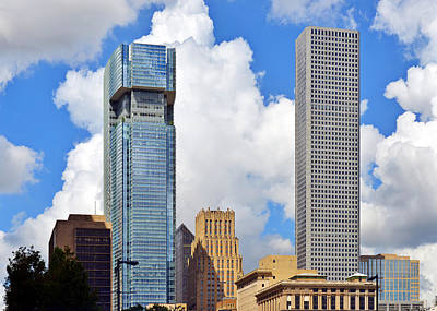 Gulf Building Houston Texas Poster by Christine Till