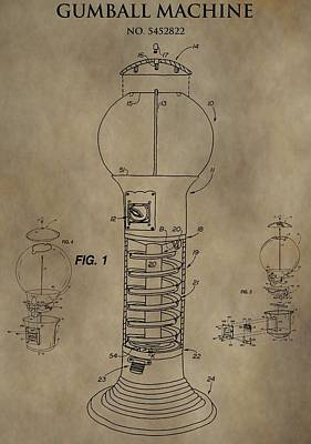 Gumball Machine Patent Poster by Dan Sproul