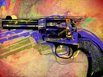 gun Poster by Mark Ashkenazi