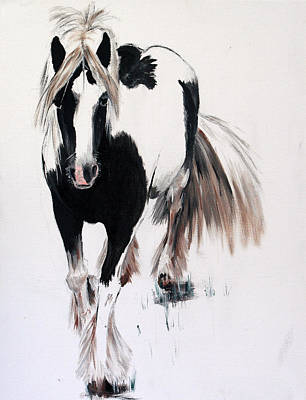 Gypsy Poster featuring the painting Gypsy Vanner by Isabella Abbie Shores