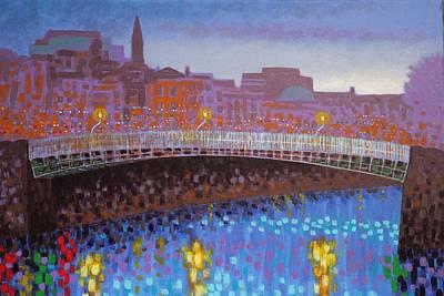 Ha Penny Bridge Dublin  Cropped Poster by John  Nolan
