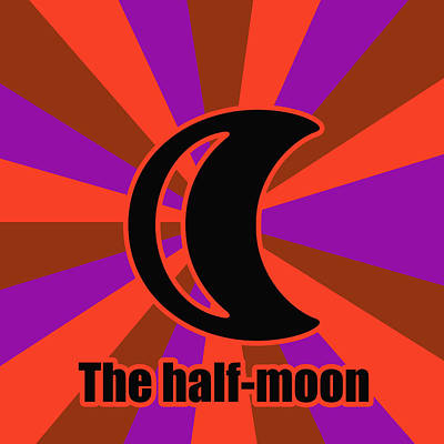 Half Moon Poster by Toppart Sweden