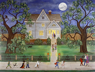 Halloween Poster by Linda Mears