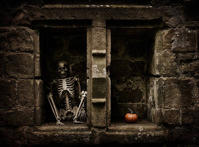 Halloween Skeleton Poster by Amanda And Christopher Elwell