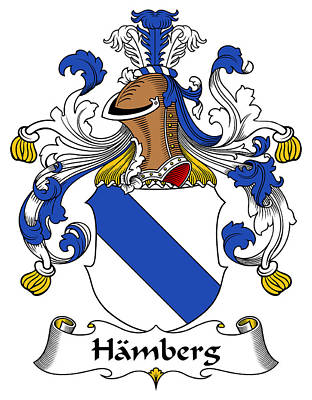 Hamberg Coat Of Arms German Poster by Heraldry