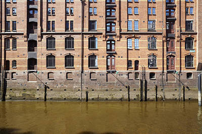 Hamburg - Facade At The Old Warehouse District Of Red Bricks Poster by Olaf Schulz