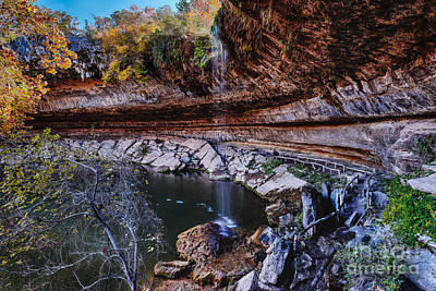 Hamilton Pool In The Fall - Texas Hill Country Poster by Silvio Ligutti
