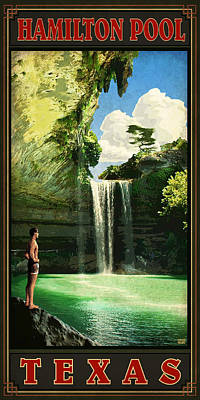 Hamilton Pool Poster by Jim Sanders